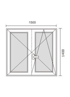 Misure standard porte finestre 2 ante - Misure infissi finestre ...
